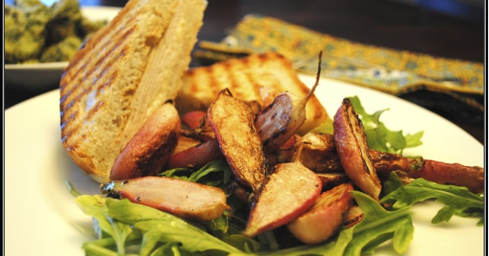... Dinners: French Grilled Turkey, Sauteed Radishes and Pesto Potatoes