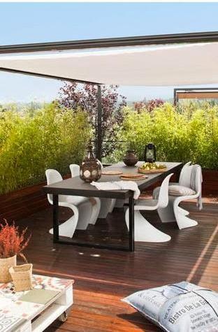 sillas phaton en la terraza