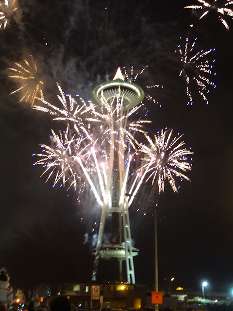 Seattle Space Needle Fireworks New Years Eve