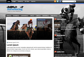 HorseRacing Blogger Template