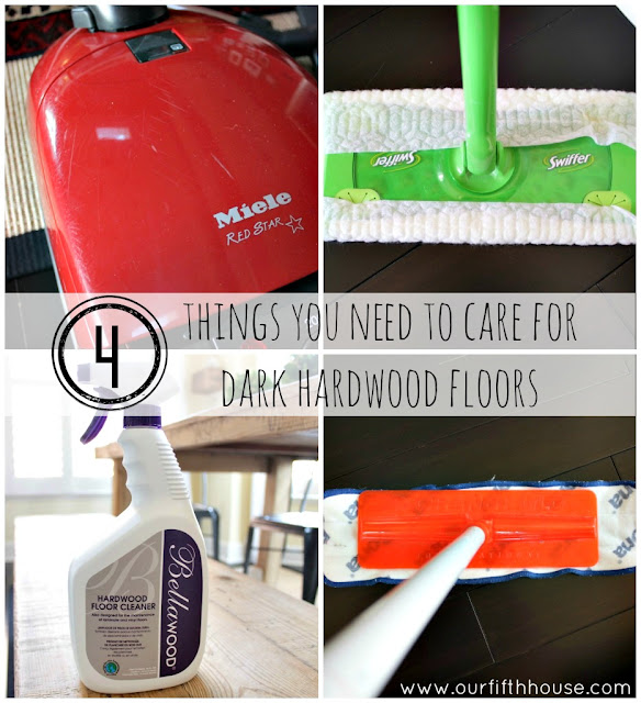 4 things you need to clean dark wood floors