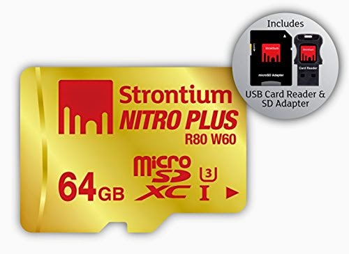 64GB R80 W60 MicroSD Strontium Nitro Plus for Samsung Galaxy Note 4 & Note Edge