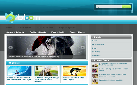 Bloom - Free Blogger Template