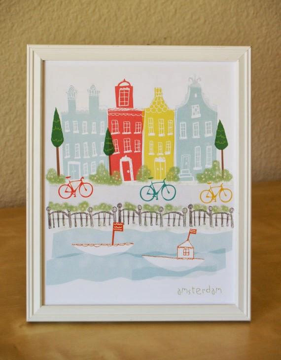 bridgette hall travel illustration cityscapes