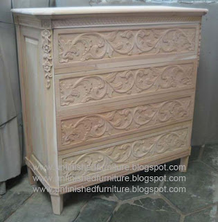 Klasik furniture nakas bufet sajonia mentah unfinished supplier chest of drawer klasik mahoni reproduction furniture