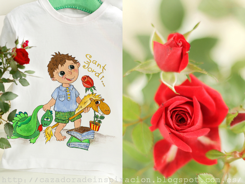 T-shirt for kids, Sant Jordi.