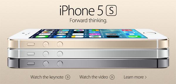 O novo iPhone 5S