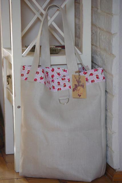torba na zakupy, torba eko, lniana torba rękodzieło
