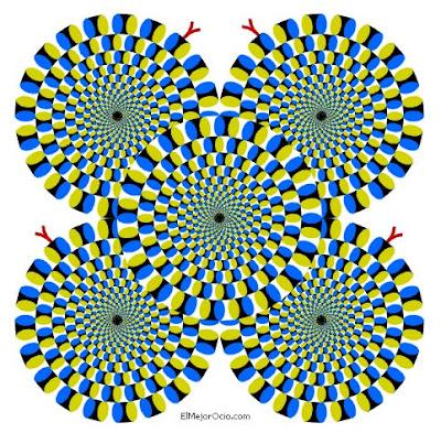 Experimento visual Se_mueven_si_no_los_miras