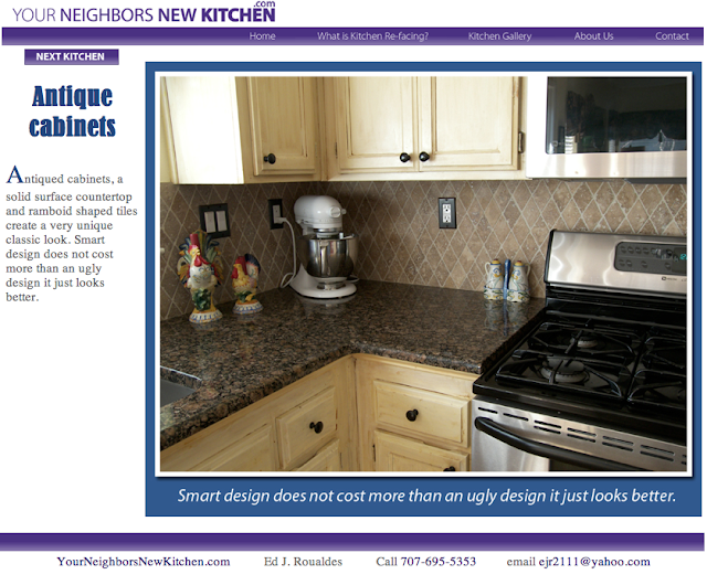 Your Neighbors' New Kitchen.com website designed by Susan Searway Art & Design