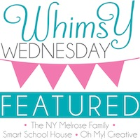 Featured on Whimsy Wednesday, a weekly link party