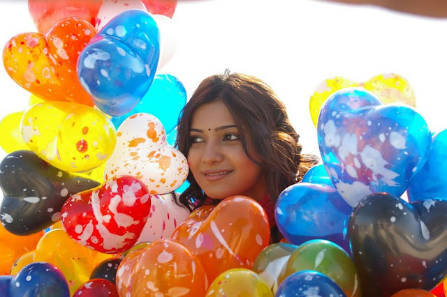 samantha with colorful balloons glamour   images
