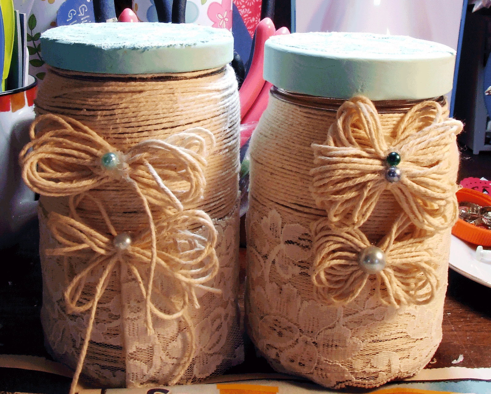 Shabby Chic Jars