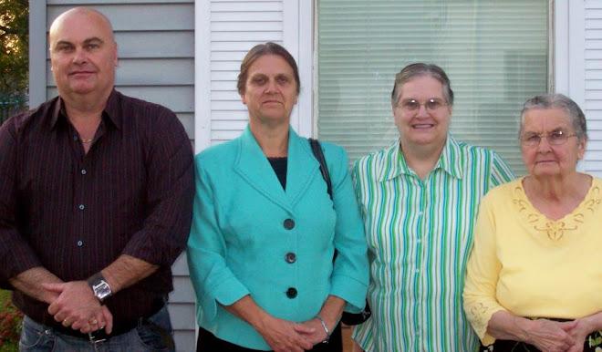Mom, me, Barb and Myles (my sis and bro)