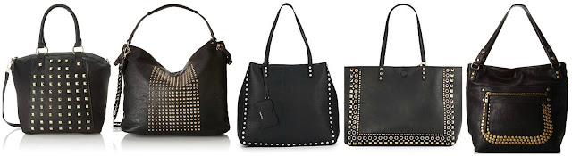 T-Shirt & Jeans Studded Satchel Top Handle Bag $25.03 (regular $54.00)  MG Collection Hana Studded Slouchy Hobo Tote $29.48 (regular $68.00)  Nine West Hadley Studded Faux Leather Tote $39.99 (regular $79.00)  Saks Fifth Avenue Reversible Studded Faux Leather Tote $39.99 (regular $98.00)  Big Buddha Barry Studded Tote $65.99 (regular $94.95)