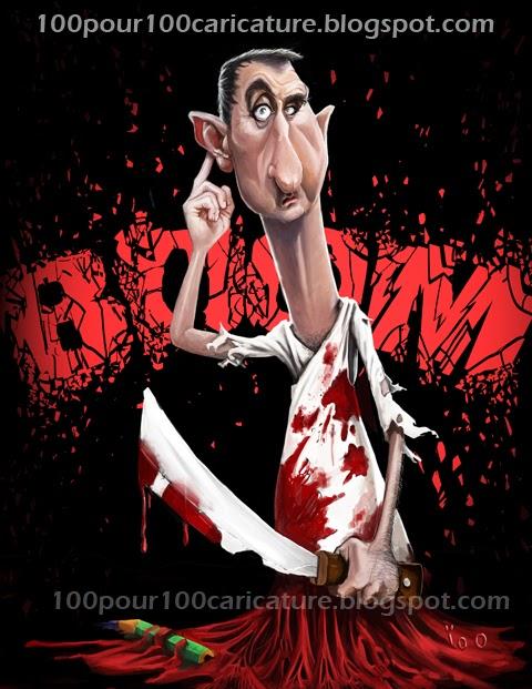 Caricature Bachar El Assad par ioo