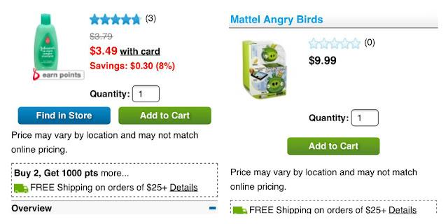 #Balance Rewards, Angry Birds Apptivity products at Walgreens