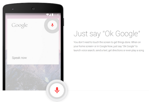 """""""OK Google"""" ya funciona en español"""