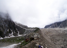 Satopanth trek in the Garhwal Himalayas in Uttarakhand