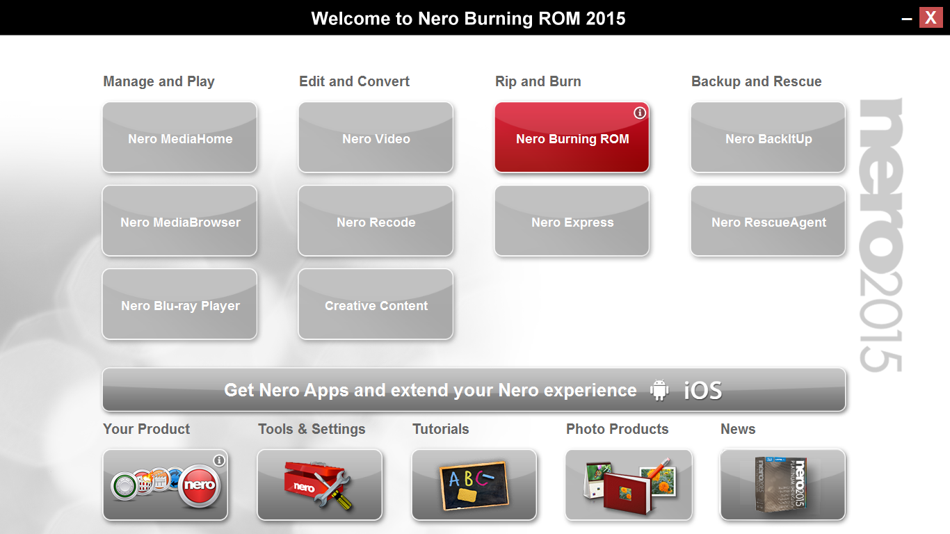 Nero Burning ROM 2015 16.0.02200 Full Crack Serial 3