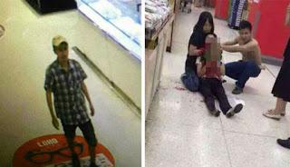 Pencuri Gorok Pelayan Wanita di Supermarket