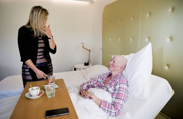 Queen Maxima of The Netherlands visited the Alexander Monro Breast Cancer Hospital in Bilthoven. The Netherlands