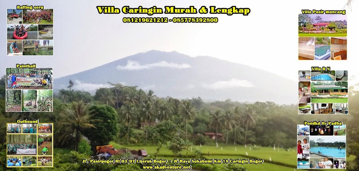 Sewa Villa murah || Rafting murah ||arung jeram murah||Paintball di Caringin Bogor