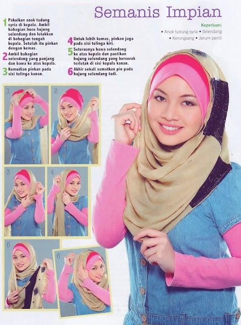 Hijab Tutorial Styles Cara Memakai Jilbab Modis | Tattoo Design Bild