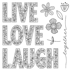 May Stamp of the Month: Live Laugh Love