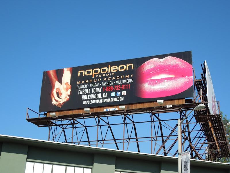 Napoleon Perdis Makeup Academy lips billboard