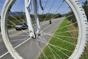 Rueda de una bicicleta fantasma