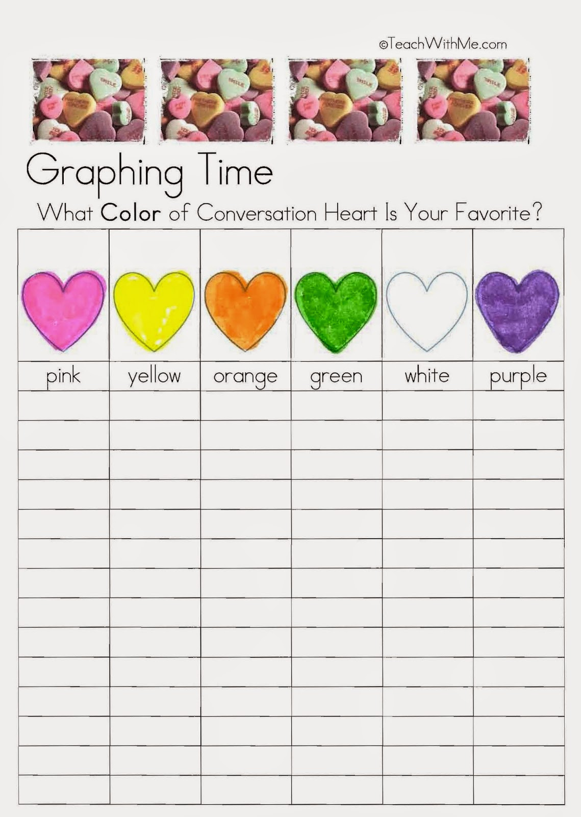 Classroom Freebies: February Fun With Candy Conversation Hearts