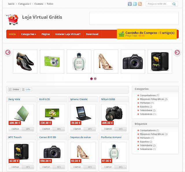 O melhor tema para e-commerce Blogger