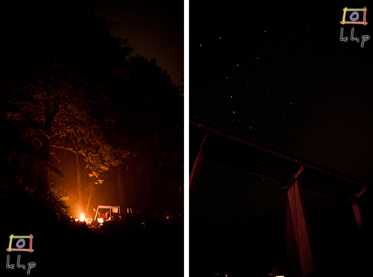 Campfire under the Big Dipper while we were painting the night