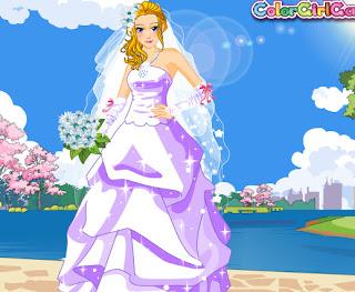 Juego de vestir a la novia para la boda de primavera