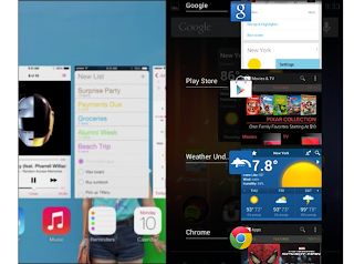 How Apple Copied Android And Windows In Its New Version iOS7 [Comparison] 2