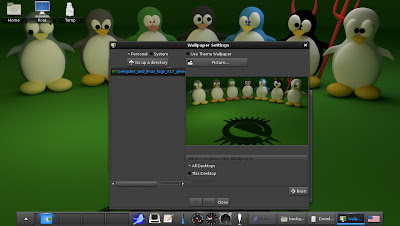 openSUSE 12.2 Enlightenment E17 change background advanced settings