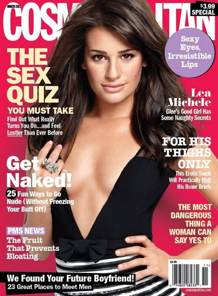 lea michele cosmopolitan article. Lea Michele appears on