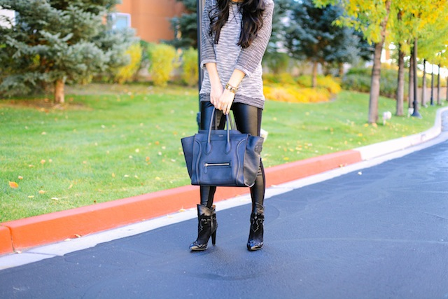 eric javits hat, wool fedora, wool kim. leather leggings, booties, fall outfit, fall style,