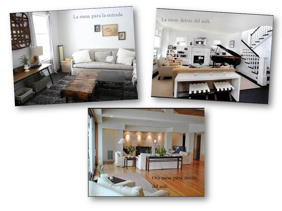 Mi casa algunas mesas para poner detras del sofa - Alicatar cocina detras muebles ...