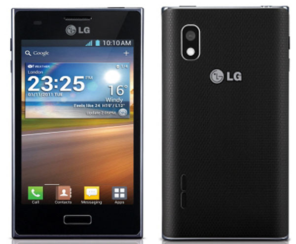 lg optimus l5 launch release spec