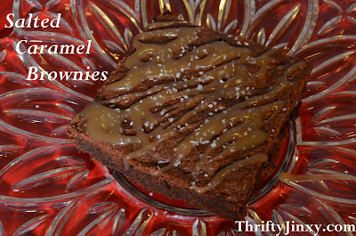 Salted Caramel Brownies with Whole Wheat Flour