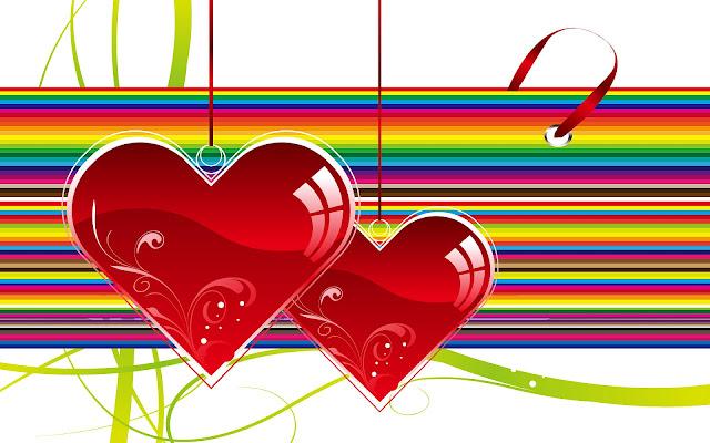 Rode liefdes hartjes