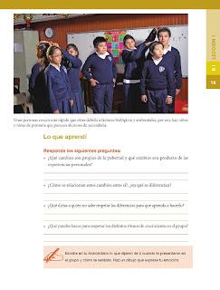 Apoyo Primaria Formación Cívica y Ética 5to grado Bloque I lección 1 Cambios en nuestro cuerpo y en nuestra imagen