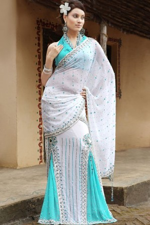 Bridal-Sarees-White