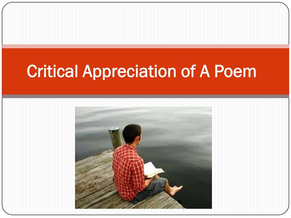 critical appreciation of the poem