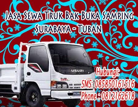 Jasa Sewa Truk Bak Buka Samping Surabaya - Tuban