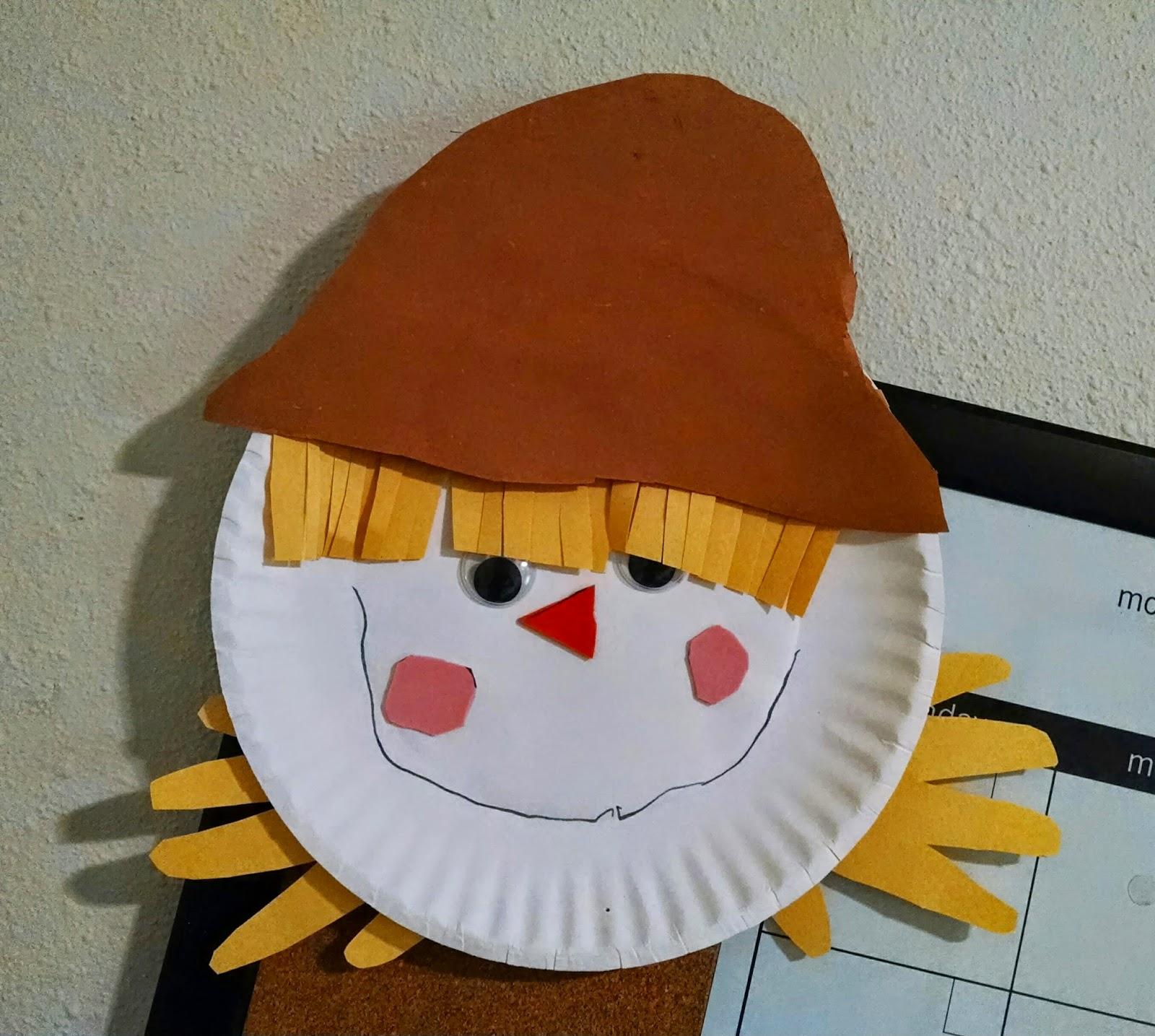 Paper Plate Scarecrow & Paper Plate Scarecrow - lekton.info