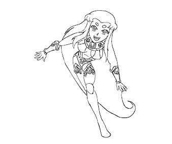 #15 Starfire Coloring Page