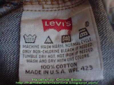 Celana Jeans Levis 501 USA Original Import Code CL001